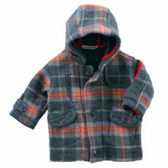 Miniman 'Sportive Dandy' check woolen coat