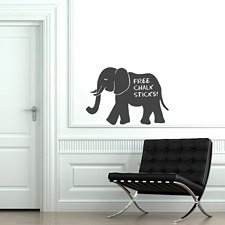 Elephant Chalkboard Sticker