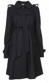 Topshop Maternity Belted Coat front view