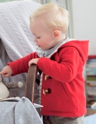 boden jersey baby duffle coat red