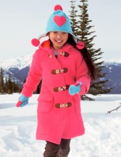 pink funky duffle coat by boden
