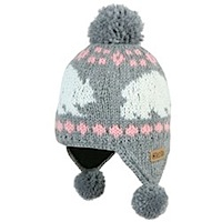 barts snow storm hat in grey