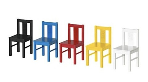 ikea Kritter chairs in five colours