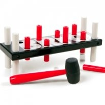 Pounding Bench by Brio red and black