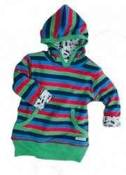 little shrimp organic striped hoodie