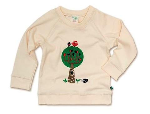 Cream Tree Sweatshirt by Green Baby