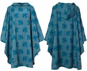 BLUE INCA PONCHO by Rainwave