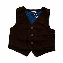 Minymo Harry Seal Brown Waistcoat