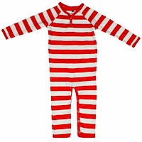 Katvig Red and White Striped Organic Cotton Onesie