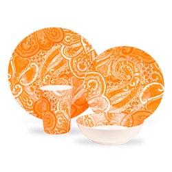 Kids Paisley Tableware orange