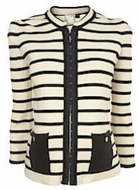 Maternity Stripe Braid Jacket