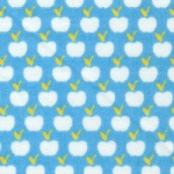 Cot bed duvet set - Dinky Apples (turquoise)