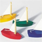 mini wooden sailing boat