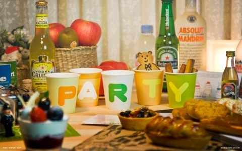 abc party cups photo