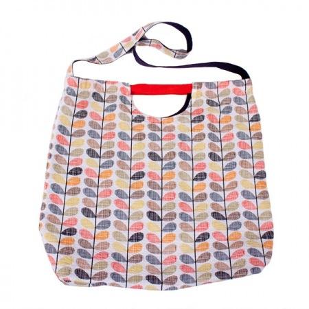 Orla Kiely Olive and Orange Stem Print Shopper Bag - SALE 50% OFF!