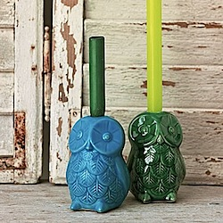 owl candle sticks