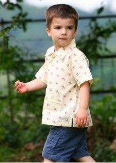 Short Sleeve Cowboy Shirt by Their Nibs