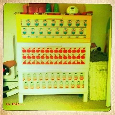 customised Ikea aneboda drawers by Bambino Goodies