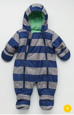 Snowsuit striped boden