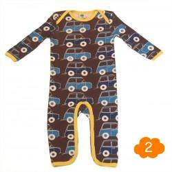 Smafolk Brown Car Bodysuit