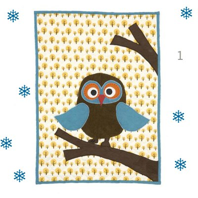 Ferm Living Quilted Owl Playmat