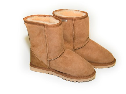 lambskin and calfskin booties by babies in sheeps clothing kids ethic boots