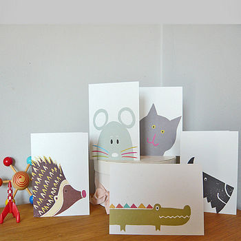 Owl and Cat Designs Greetings Cards