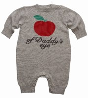 Bonnie Baby Unisex Apple of Daddy's Eye Playsuit