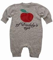 Bonnie Baby Unisex Apple of Daddy's Eye Playsuit