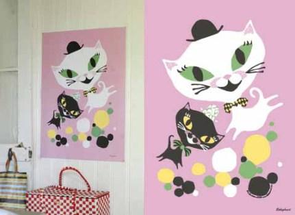 Cat Fun print from Littlephant