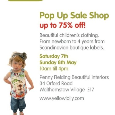 Yellow Lolly Pop Up Sale Shop – 7th-8th May London