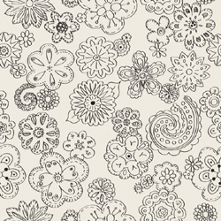 Color Me fabrics, flowers