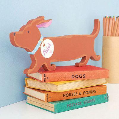 Moo Baa Cluck wooden dog door plaque