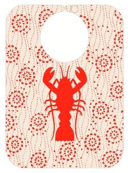 Bib Lobster. BIODEGRADABLE!