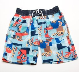 Floatimini Boys _Block Print_ Swimming Shorts
