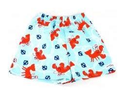 Lobster Swim Shorts with Nappy