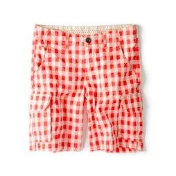 gingham check shorts