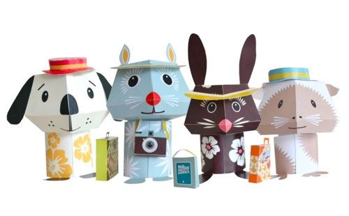 mibo jet set pets cardboard animals