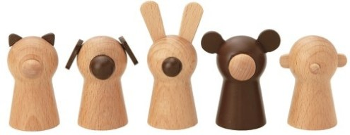 Wooden finger puppets by Muji