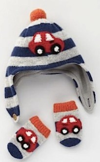 Boden Car Hat & Mittens Set