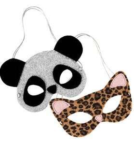 panda and leopard masks from H&M