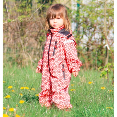 Ducksday Funky Red Print Rainsuit