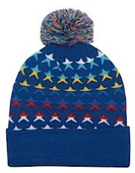 Star ski bobble hat