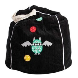 Black Bat Star Beanbag from Monster Couture