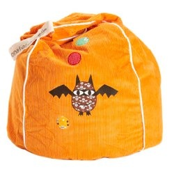 Orange Bat Star Beanbag from Monster Couture