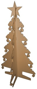 Cardboard Christmas tree from Red Jelly Kids