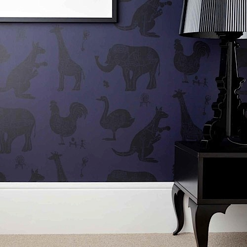 'How it works' purple children's wallpaper by Paperboy
