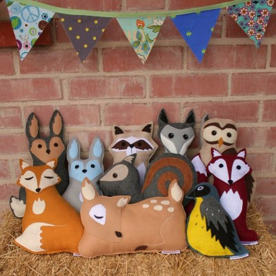Savage Seeds felt woodland animal toys/cushions