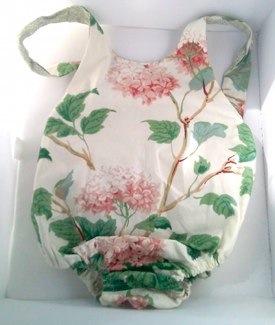 Retro Romper Swimsuit in Green/Rose by Mimimyne