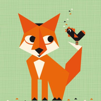 Miss Honeybird woodland animal posters